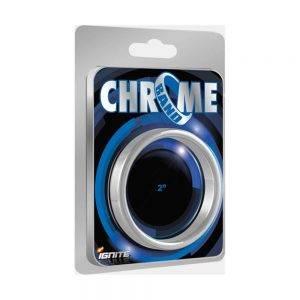 Chrome Band Ring 50 mm. (2.00 inch) BONERRINGS (Chromed) steel Ignite
