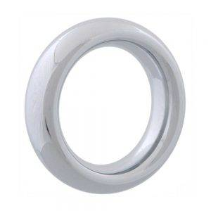 Chrome Donut Ring 40 mm. BONERRINGS (Chromed) steel Ignite