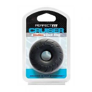 Fat Boy SilaSkin Cruiser Ring - Black BONERRINGS TPE | TPR Perfect Fit Brand