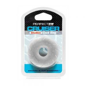 Fat Boy SilaSkin Cruiser Ring - Clear BONERRINGS TPE | TPR Perfect Fit Brand