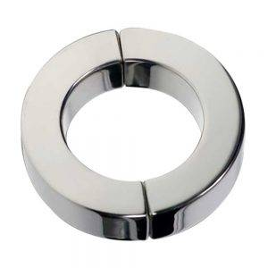 Magnetic Hinged Cock Ring Polished - 45 mm.
