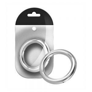 Stainless Steel Round Cock Ring 10 mm. x 50 mm. BONERRINGS Stainless Steel Black Label