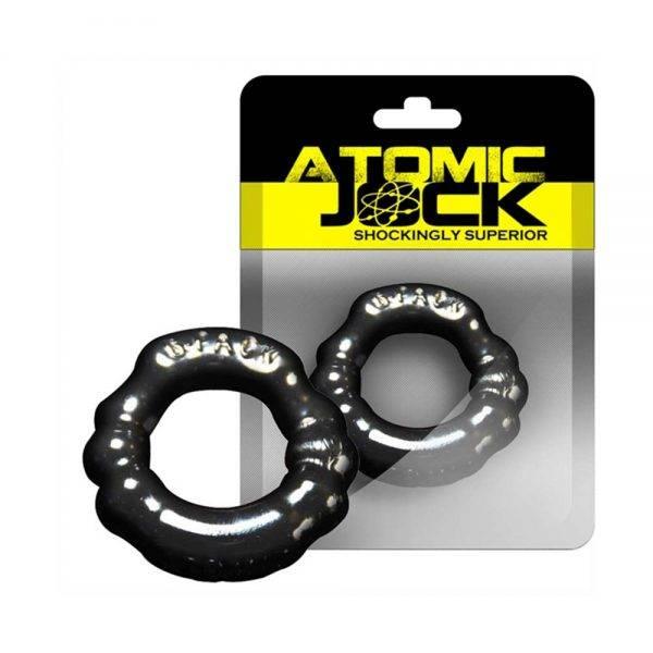 [TPR] The 6-Pack Cockring Super Stretchy Black BONERRINGS TPE   TPR Oxballs