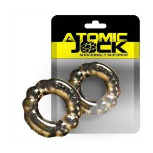 [TPR] The 6-Pack Cockring Super Stretchy Smoke Clear BONERRINGS TPE | TPR Oxballs