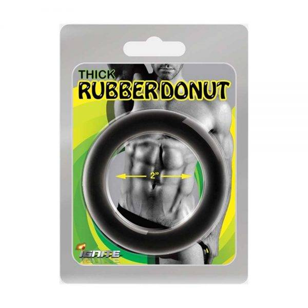Thick Rubber Donut Ring - 44 mm. (1.75 inch) BONERRINGS Rubber Ignite