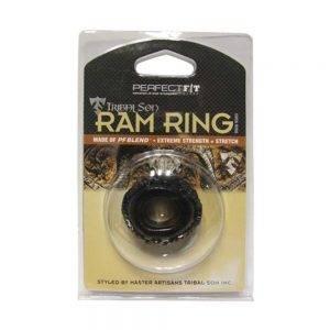 Tribal Son Ram Ring - Black BONERRINGS TPE | TPR Perfect Fit Brand