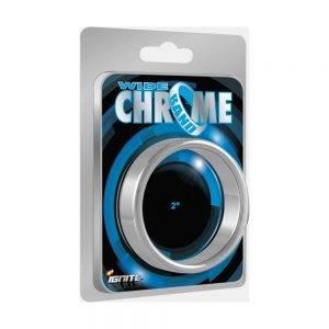 Wide Chrome Band Ring 45 mm. (1.75 inch) BONERRINGS (Chromed) steel Ignite