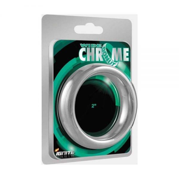 Wide Chrome Donut Ring 55 mm. (2.25 inch) BONERRINGS (Chromed) steel Ignite